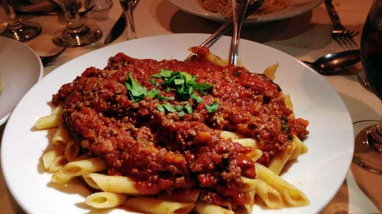 A meaty penne Bolognese is vibrant and satisfying