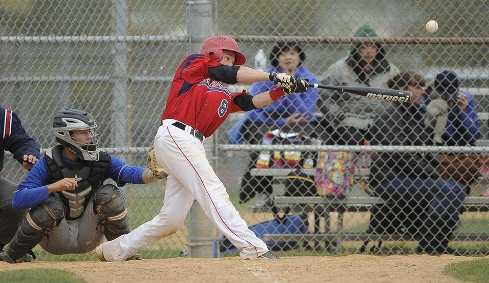 MacArthur's Kevin Curtis hits a three-run home run