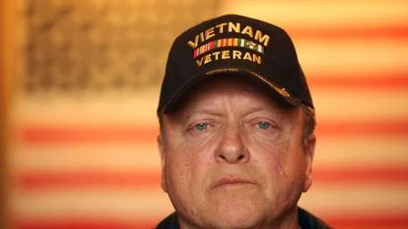 Vietnam War veteran Paul Plante of Huntington poses