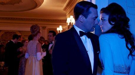 Don Draper (Jon Hamm) and his wife, Megan,