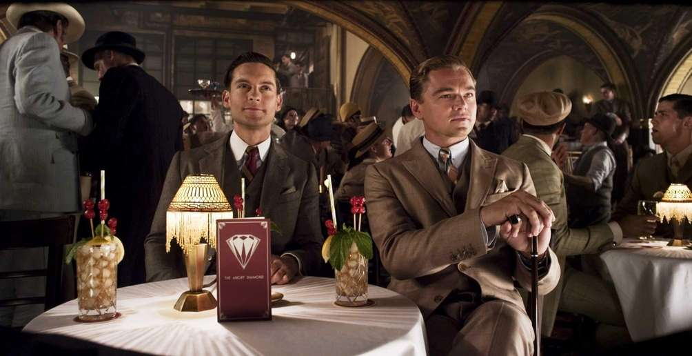 From left, Tobey Maguire as Nick Carraway and