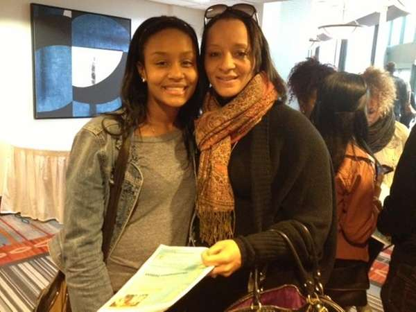 Alyssa Drake, 17, left, of Dix Hills, and