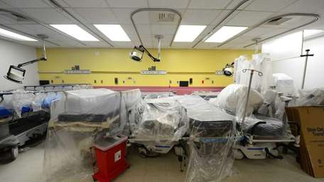 Reconstruction work is underway at Long Beach Medical