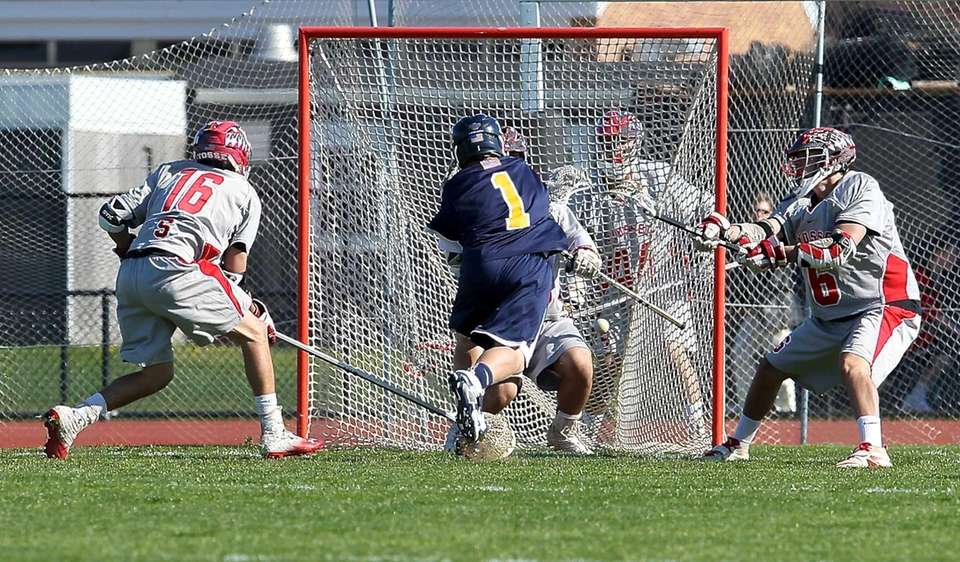 Massapequa's Jim Byrns scores a goal during a