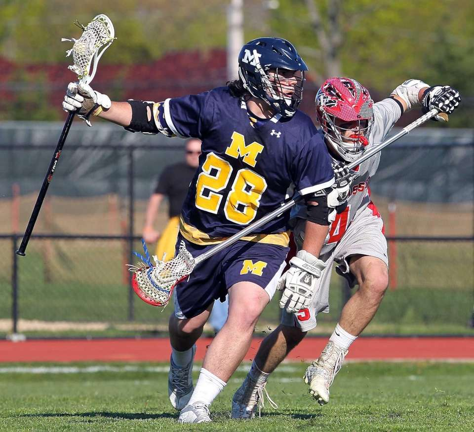 Massapequa's Paul Dilena looks to get past Syosset