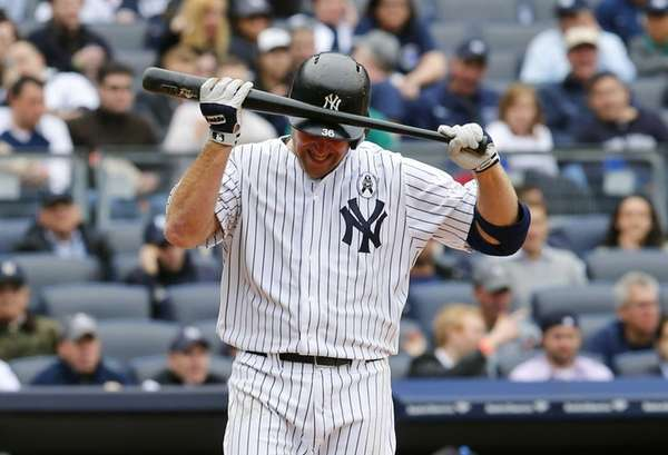 Kevin Youkilis reacts after striking out to end