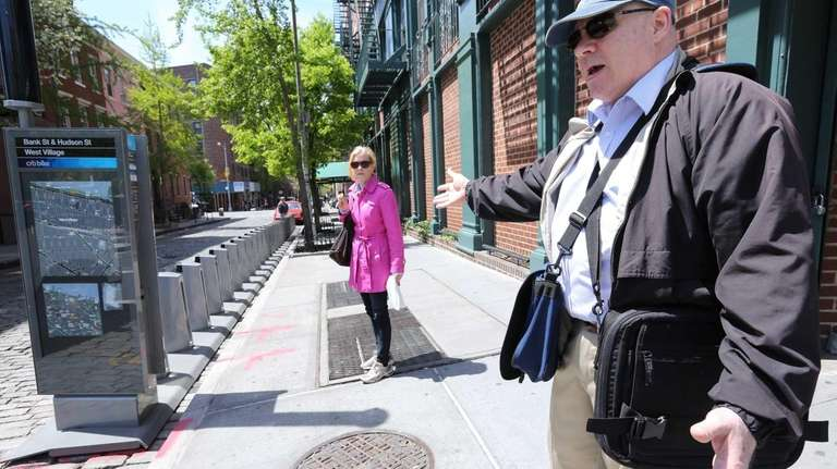 Gary Ormiston reacts to the large NYC Bike