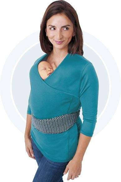 NuRoo designed a baby wearing shirt to encourage