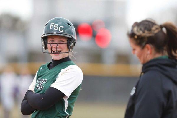 Farmingdale State freshman catcher Meagan Anderson, 2013.