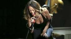 Rihanna performs onstage during the 55th