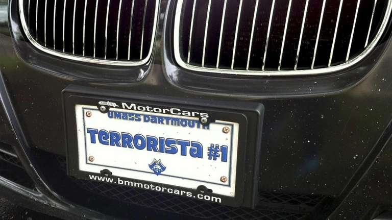 The front tag on a 2006 BMW that