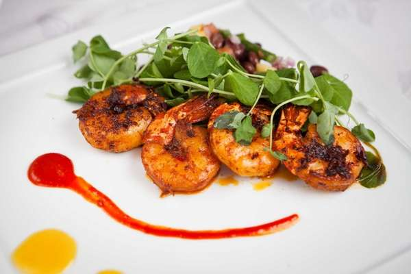 A shrimp dish served at Rein, located in