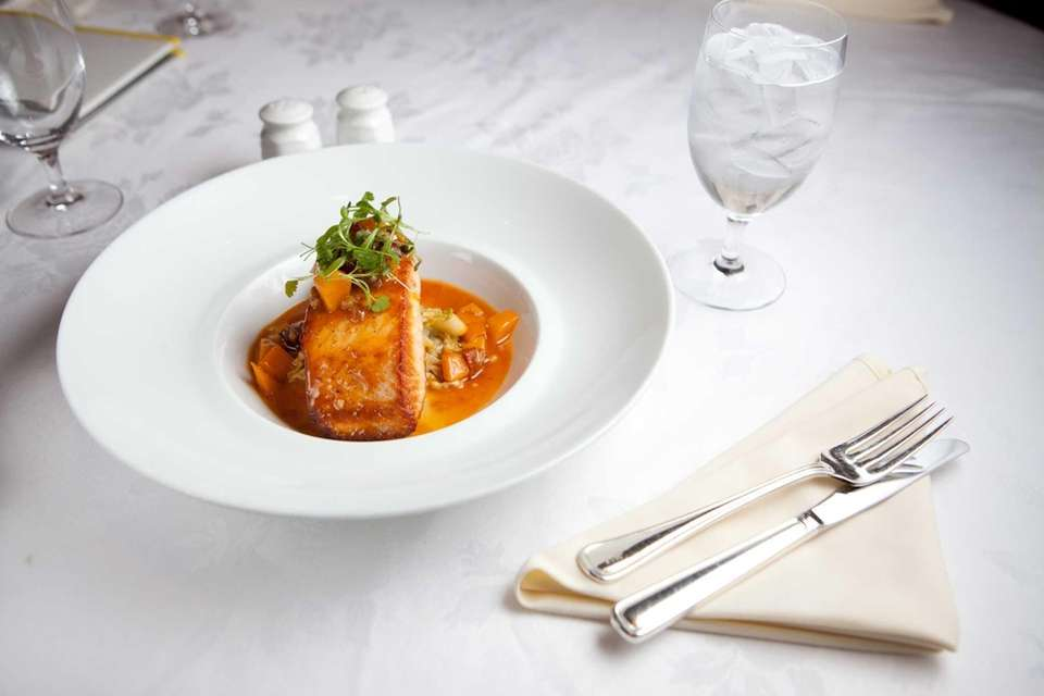 The salmon dish served at Rein, located in