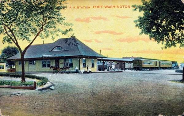 The Port Washington Long Island Rail Road station,