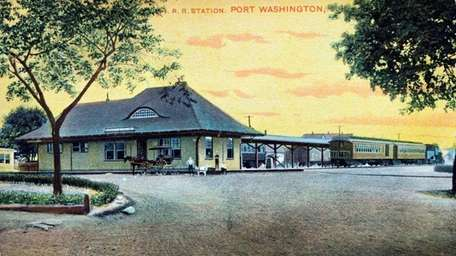 The Port Washington Long Island Rail Road station,