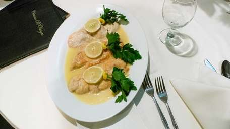Chicken limone is one of the selections at