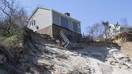 A home on the bluffs on Friendship Beach