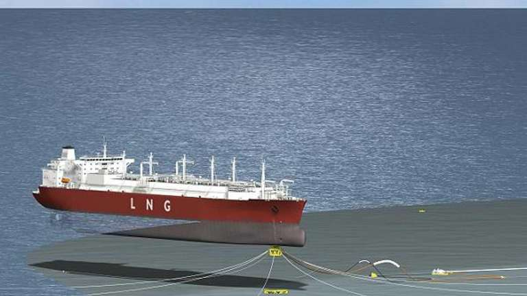 This is an artist rendering. Liberty Natural Gas