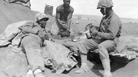 Montford Marines in training in North Carolina. Black