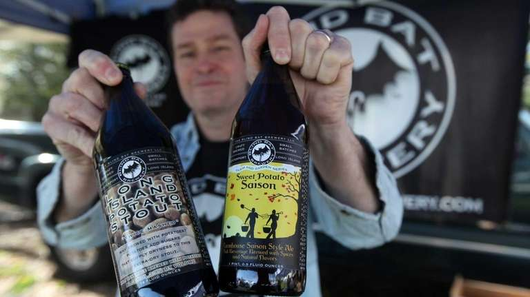 Paul Dlugokencky, owner of the Blind Bat Brewery,