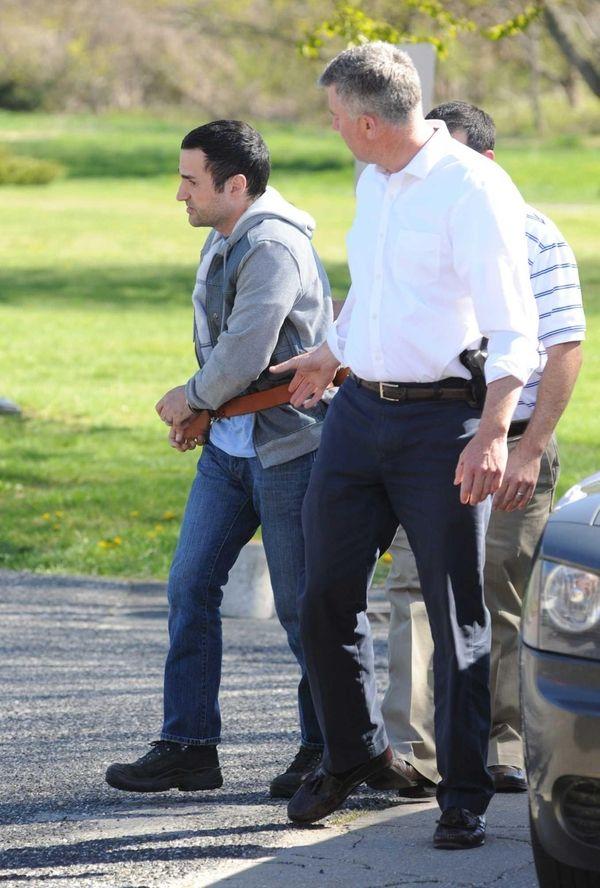East Hampton Village Police Detectives bring Harry Dalian,