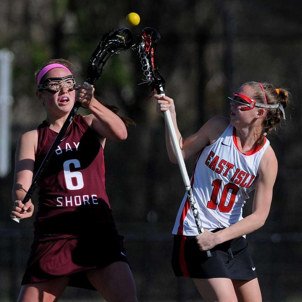 Bay Shore junior Katie Kirk, left, and East