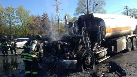 A tanker-truck fire Saturday morning prompted the evacuation