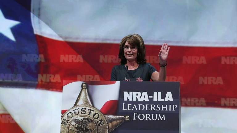 Former Alaska Gov. Sarah Palin speaks during the
