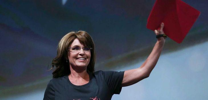 Former Alaska Gov. Sarah Palin during the NRA