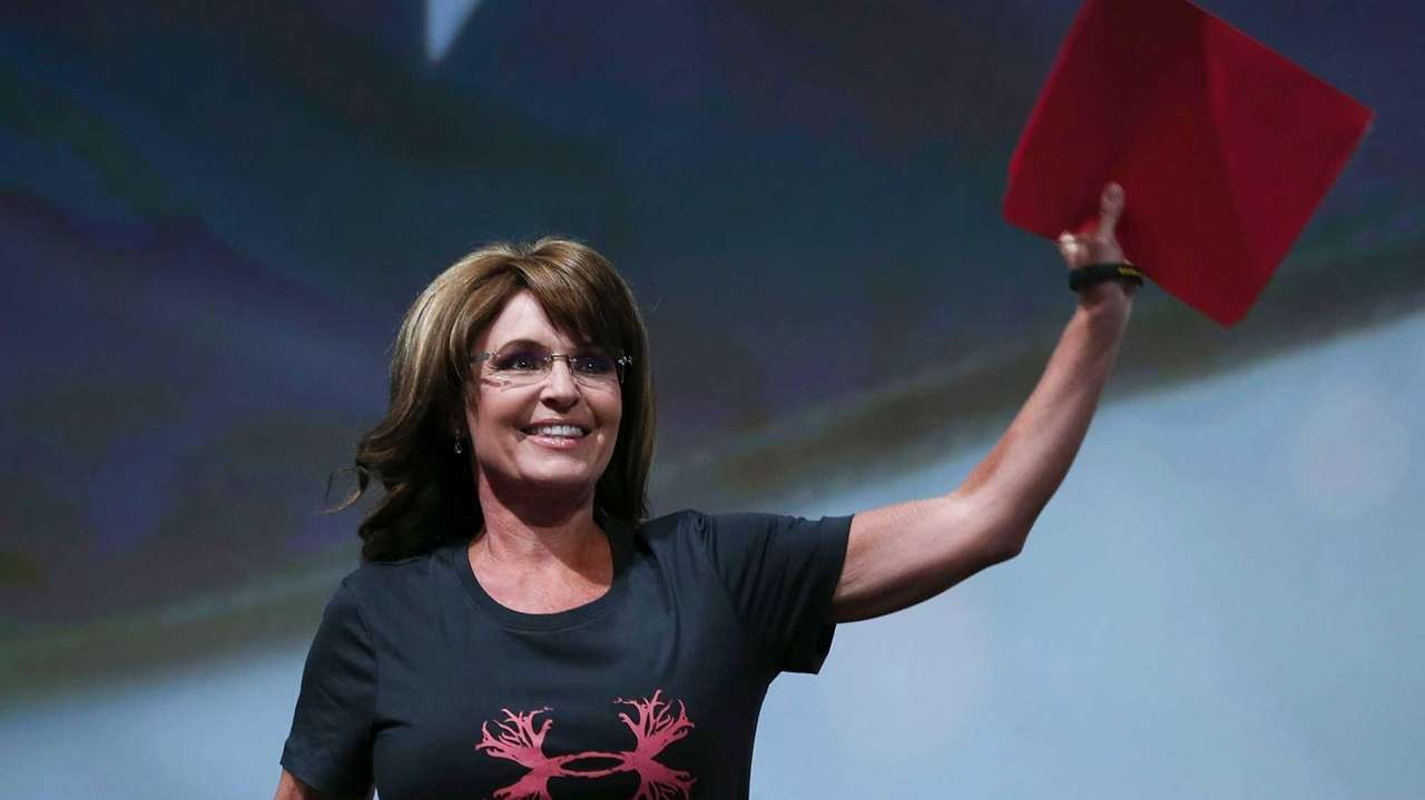Former Alaska Gov. Sarah Palin during the NRA
