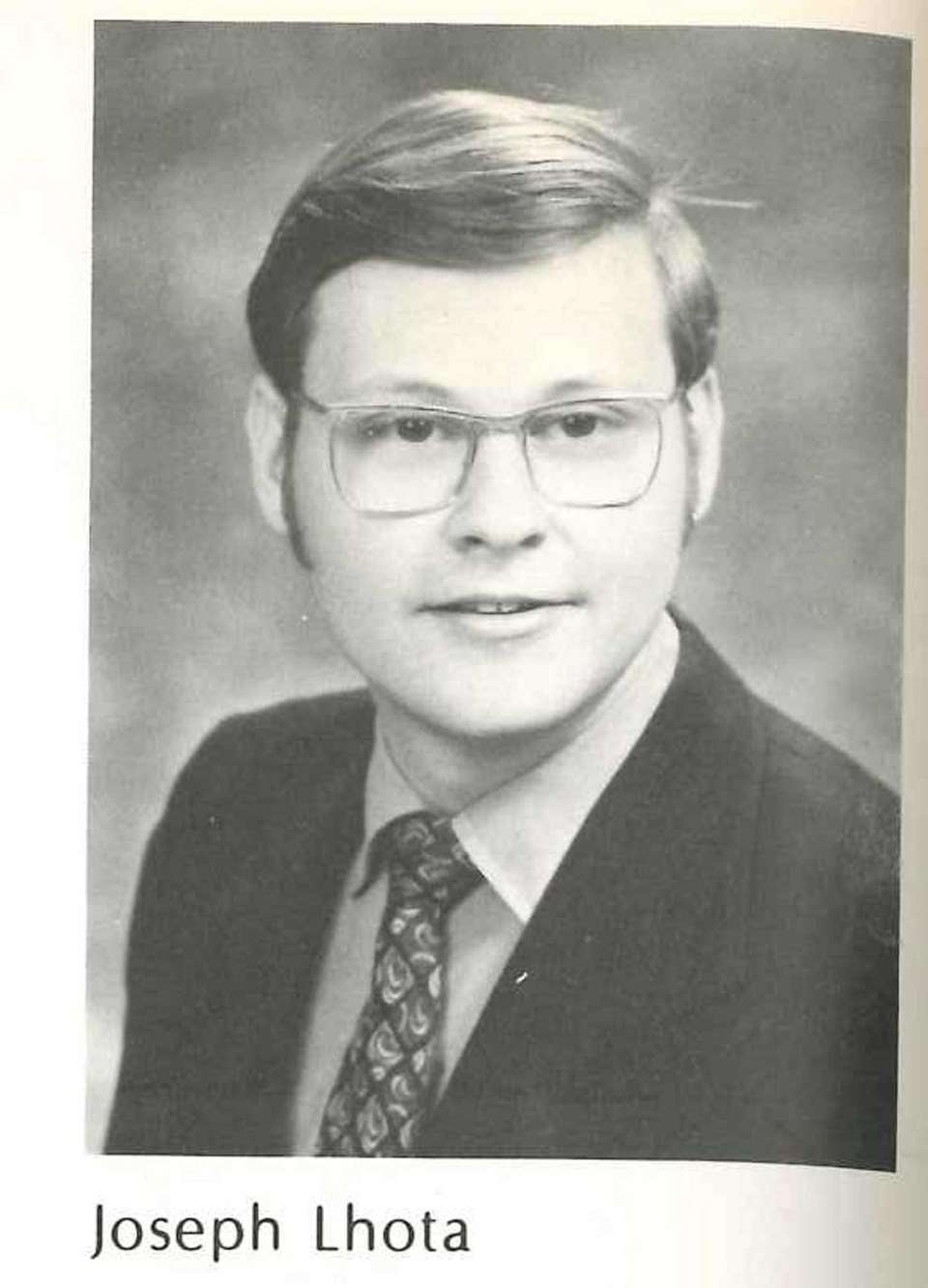 Joseph Lhota from his days as a student