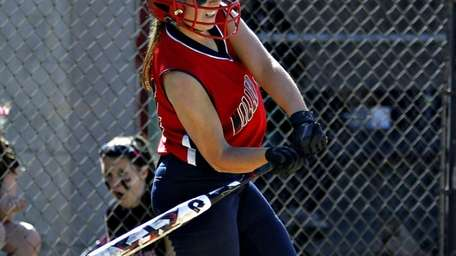 Miller Place's Sage Biamonte gets a hit that