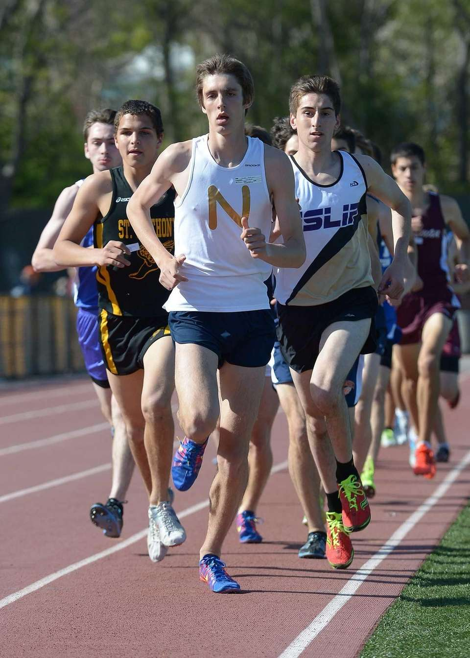 Northport's James Dickinson sets the early pace during