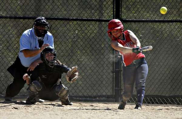 Miller Place's Tori Carlo with the bloop single