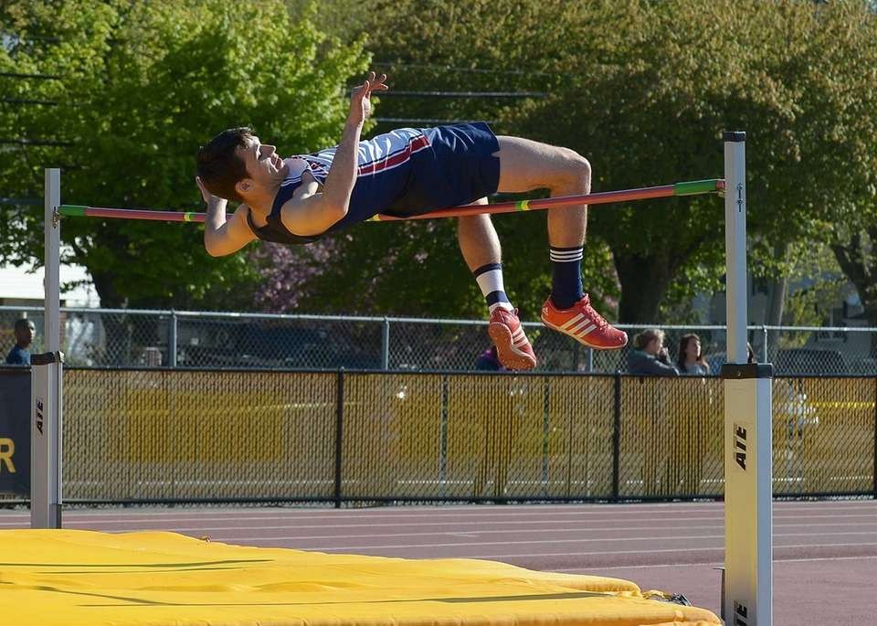 Smithtown West's Mike McCann clears 6-6 to win
