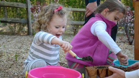 Brigid Loughlin, 2, and her sister, Ciara, 5,