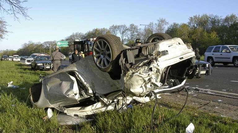 The driver of this vehicle was taken to