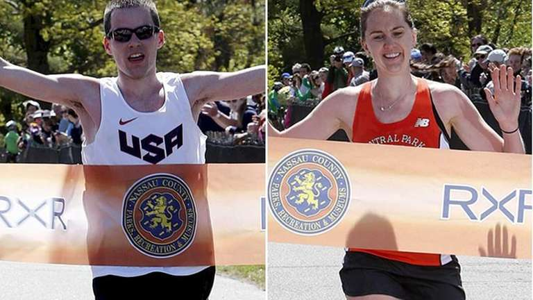 2013 Long Island Marathon winners: Derek Rammelkamp, left,