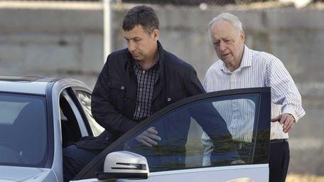 Ruslan Tsarni, left, uncle of killed Boston Marathon