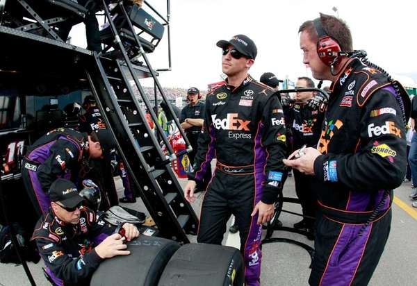 Denny Hamlin, driver of the #11 FedEx Express