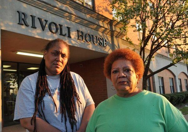 Tonya Addison, 48, left, and Evelyn Davis, 64,