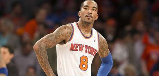 J.R. Smith looks in the final seconds of