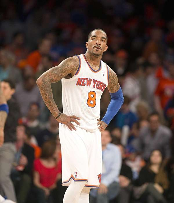 J.R. Smith looks on during the final seconds