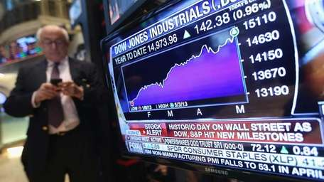 A chart shows the market gains on the