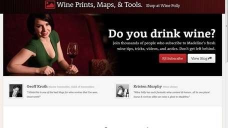 A screengrab shows the website Winefolly.com, which is
