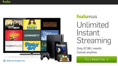 A file photo of Hulu, an online streaming