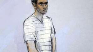 A courtroom sketch of defendant Robel Phillipos. (May
