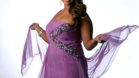 Project Prom girl Danielle Trotta models one of