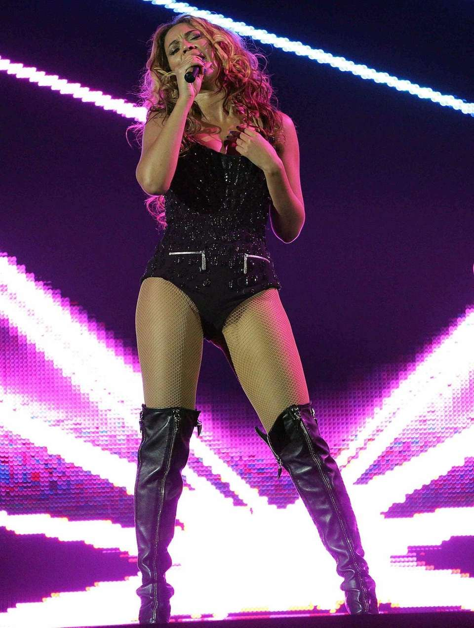 Beyonce performs on the opening night of her