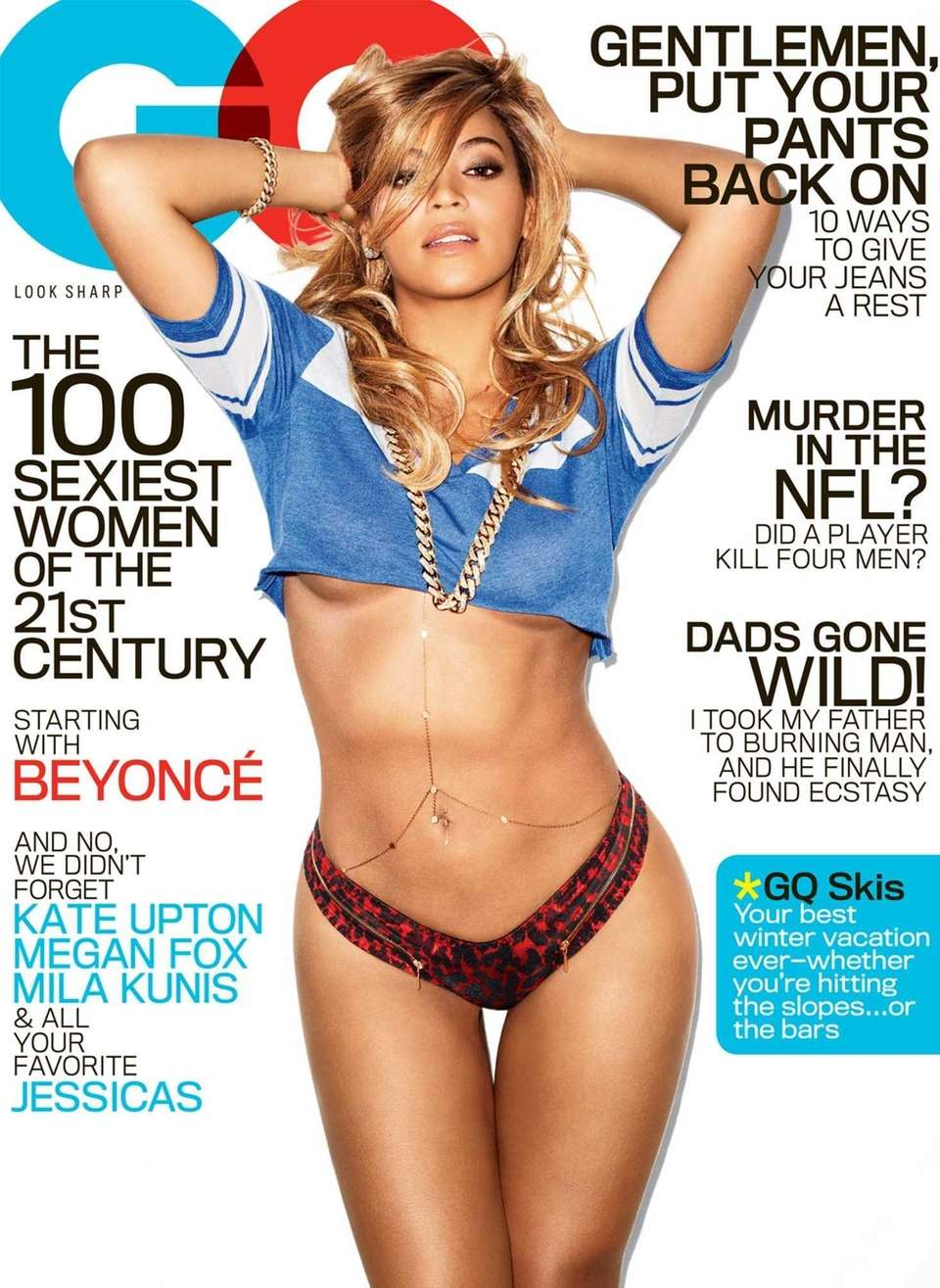 The February GQ cover featuring Beyonce. The issue